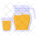 Summer Drink Jug And Glass Juice Icon
