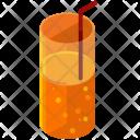 Glass Drink Straw Icon