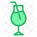 Glass Mocktail Drink Icon