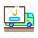 Juice Delivering Truck Icon