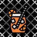 Juice Glass Drink Glass Orange Juice Icon