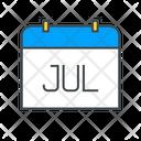 July Calendar Date Icon