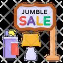 Jumble Sale Sign Jumble Sale Board Sale Roadboard Icon
