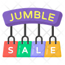 Jumble Sale Jumble Shopping Sale Sale Bags Icon