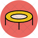 Jumping Pad Trampoline Icon