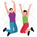 Jumping Exercise Fitness Guide Physical Exercise Icon