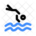 Jumping Into Water Icon