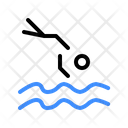 Jumping Into Water Swimming Swim Icon