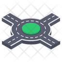 Junction Crossway Road Intersection Icon