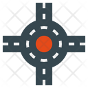 Junction Square Intersection Map Navigation Icon