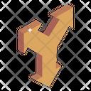 Junction Road Arrows Icon