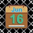 June Calendar Date Icon