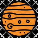 Jupiter Planet Science Icon