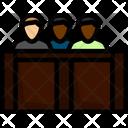 Line Outline Jury Icon