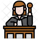 Jusge Attorney Courthouse Icon