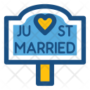 Just Married Wedding Icon