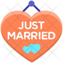 Just Married Decoration Keychain Couples Keychain Icon