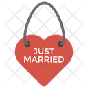 Just Married Decorative Keychain Couples Keychain Icon