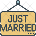 Just married signboard Icon