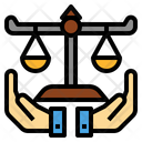 Justice Rightness Fairness Icon