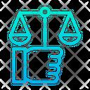 Justice Law Measure Icon