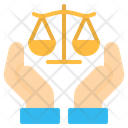 Justice Law Hand Icon