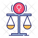 Justice Gender Equality Icon