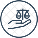 Hand Justice Law Icon