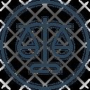 Justice Balance Law Icon