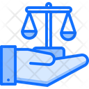 Justice in hand Icon
