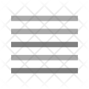 Justify Alignment Arrange Icon