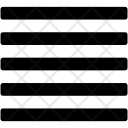 Sorting Alignment Text Icon