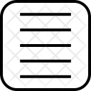 Justify Horizontal Justified Icon