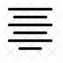 Justify Center Justify Align Icon