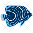 Juvenile Angelfish Sea Creature Animal Icon