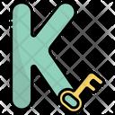 K Alphabet Education Icon