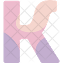 K Sign Alphabet Icon