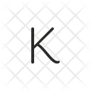K Letter Key Icon