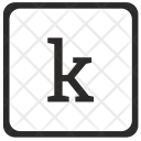 K Lowcase Letter Icon