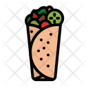 Kabab Roll Meat Icon