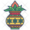 Kalasha Indian Tradition Icon