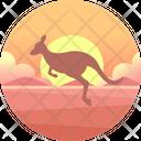 Kangaroo Marsupial Outback Icon