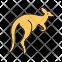 Kangaroo Animal Wildlife Icon