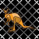 Kangaroo Animal Zoo Icon