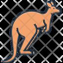 Kangaroo Australia Pouch Icon