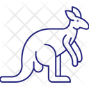 Kangaroo Mammal Animal Icon