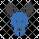 Kangaroo Face Wild Icon
