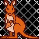 Kangaroo Kangaroo Mom Animal Icon