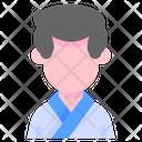 Karate Man Sport Icon
