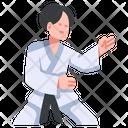 Athlete Attack Combat Icon